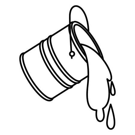 Clipart bucketnpouring water black and white jpg stock Stock Vector | Art in 2019 | Paint buckets, Painting, Bucket drawing jpg stock