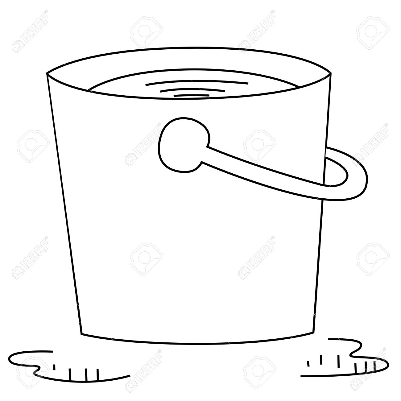 Clipart bucketnpouring water black and white picture Water Bucket Cliparts | Free download best Water Bucket Cliparts on ... picture