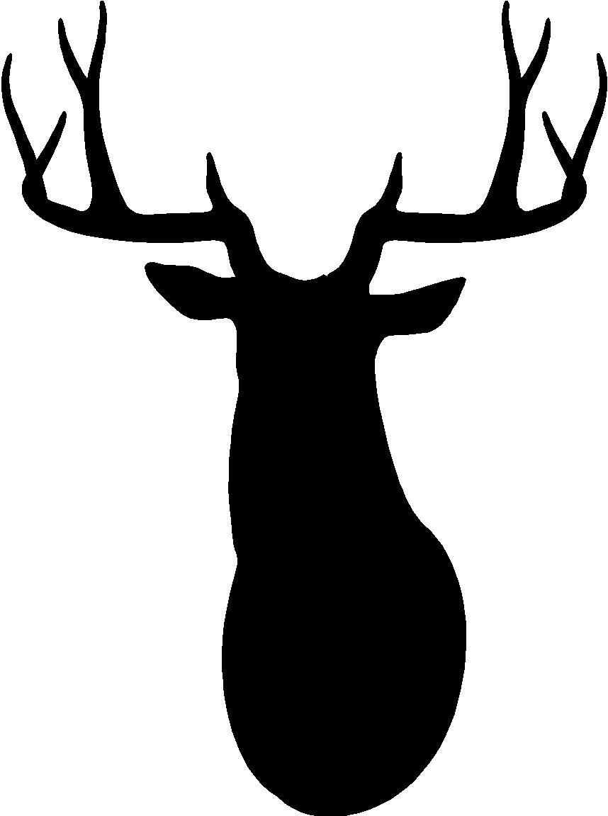 Clipart buckhead image black and white download Buck Silhouette Clipart image black and white download