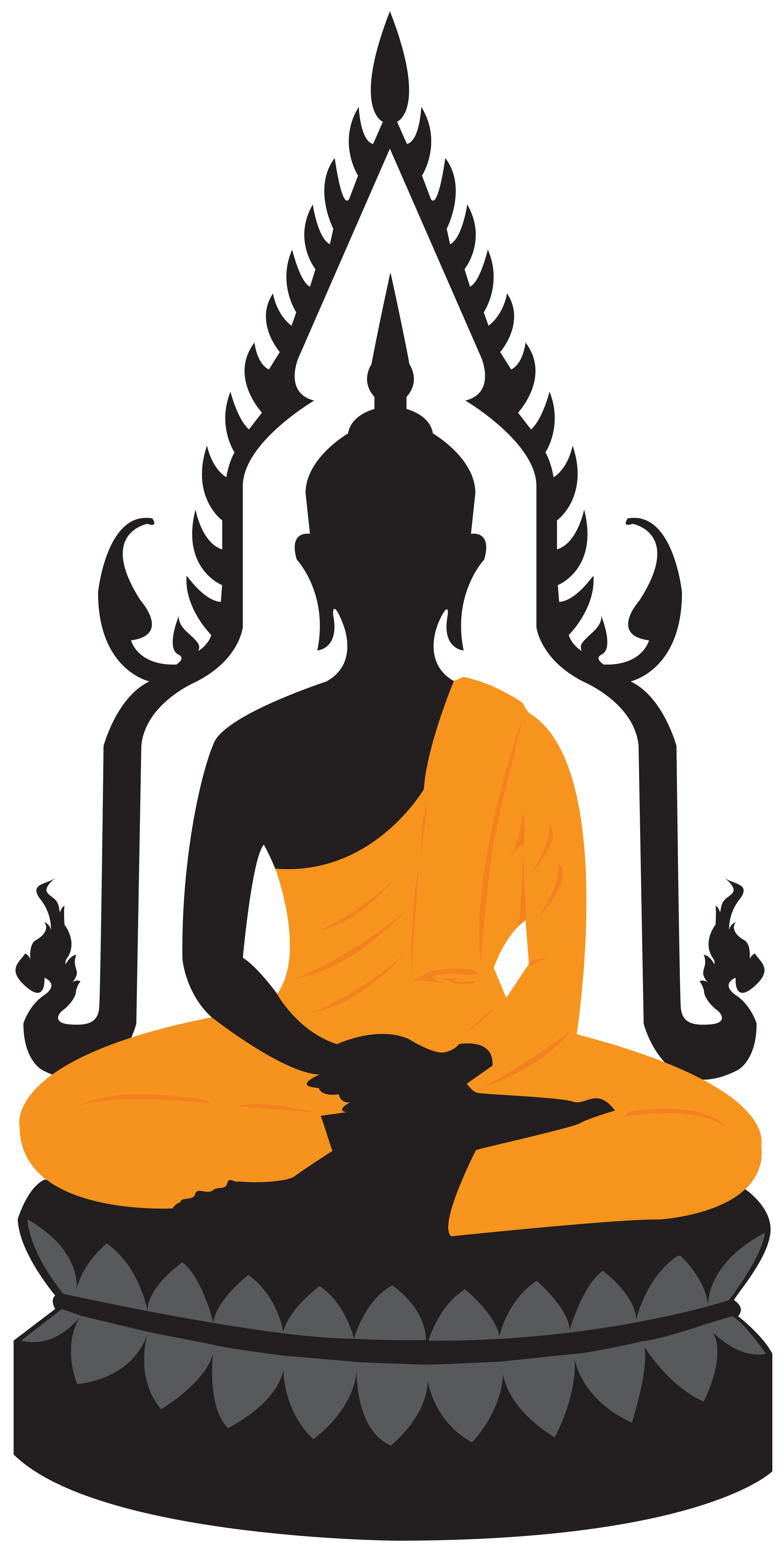 Clipart buddha image black and white stock Buddha Lotus Statue PNG Clip Art - Best WEB Clipart image black and white stock