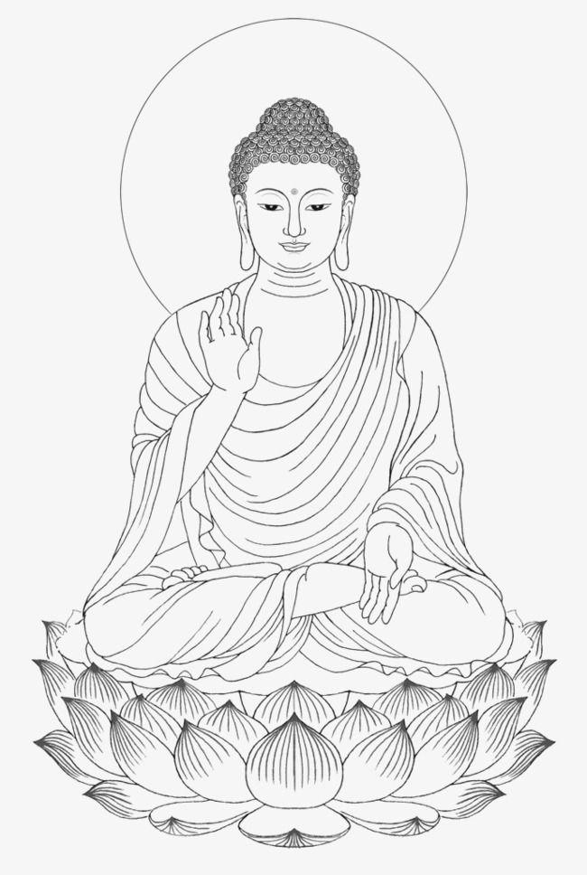 Clipart buddha jpg royalty free Shakya Muni Painted Portrait Sitting Buddha Drawing, Buddha Clipart ... jpg royalty free
