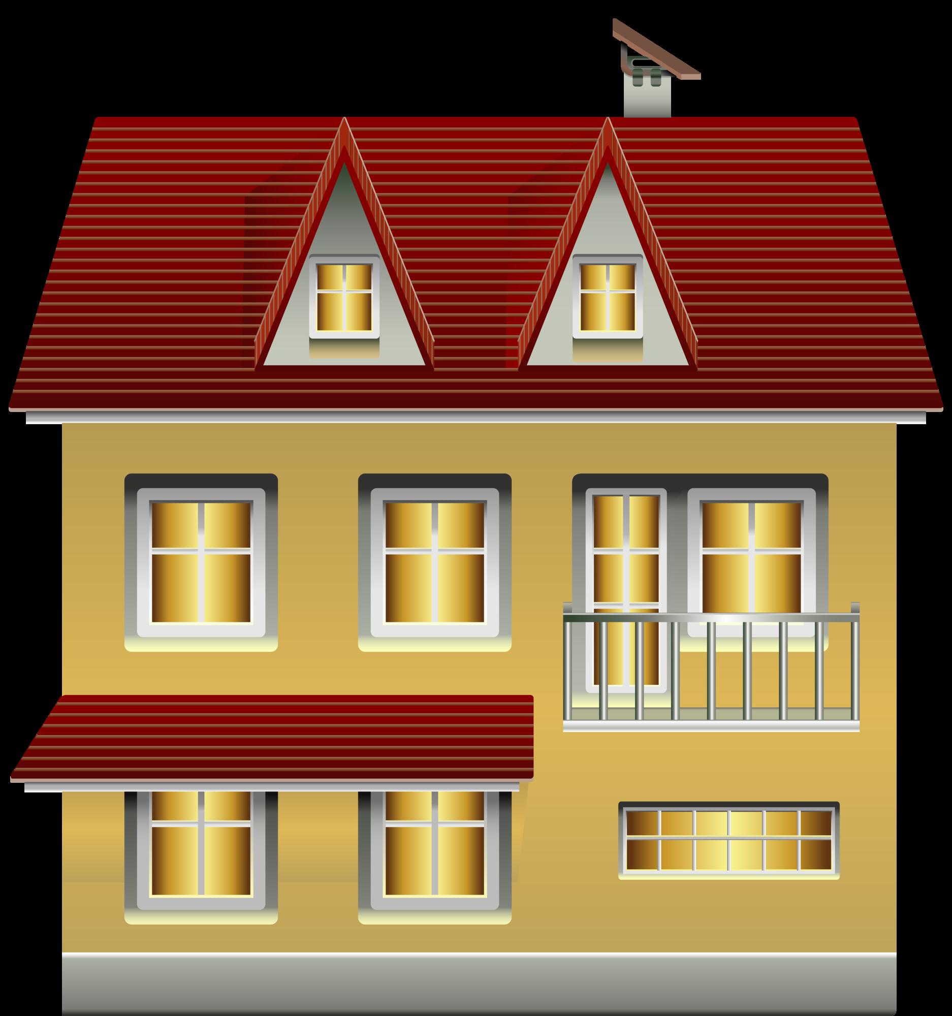 Clipart building a house image transparent stock Yellow House PNG Clip Art image transparent stock