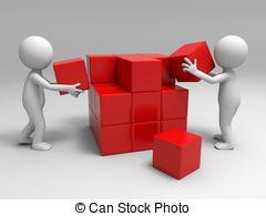 Clipart building blocks. Illustrations and clip art