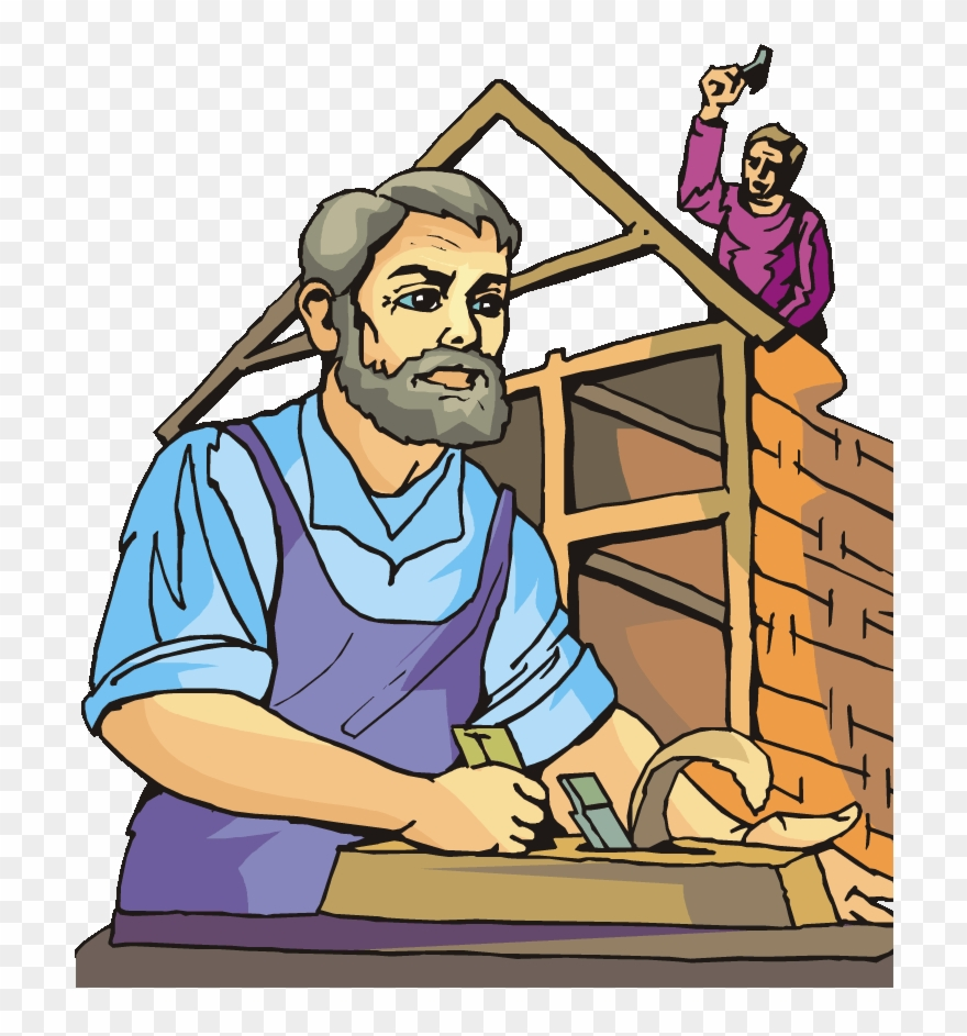 Clipart building house jpg royalty free Building Construction Clip Art - Carpenter Making House Clipart ... jpg royalty free