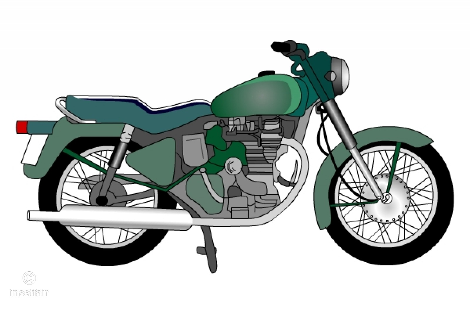 Clipart bullet bike free library Motorcycle clipart bullet bike free library
