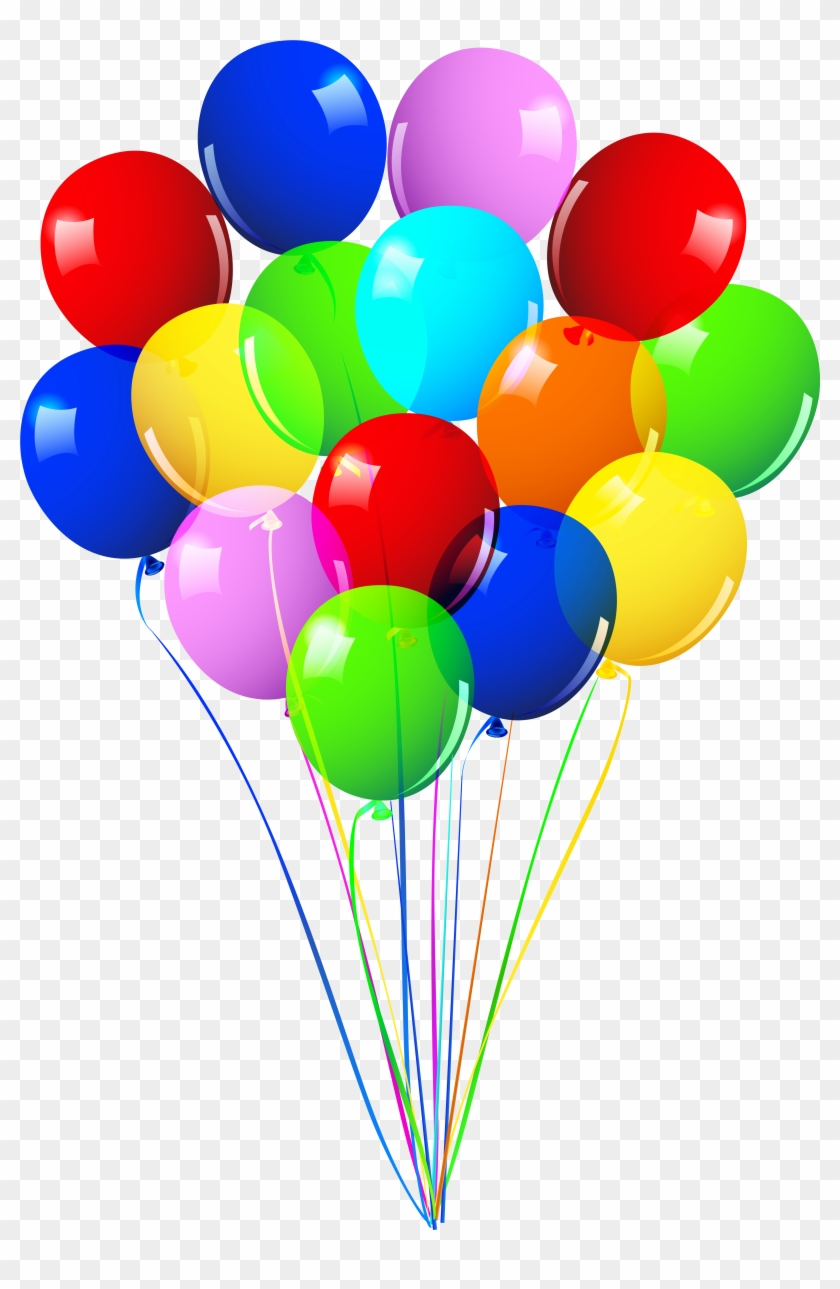 Clipart bunch of balloons graphic royalty free library Ballons Clipart Balloon Bunch - Happy Birthday Balloons Png ... graphic royalty free library