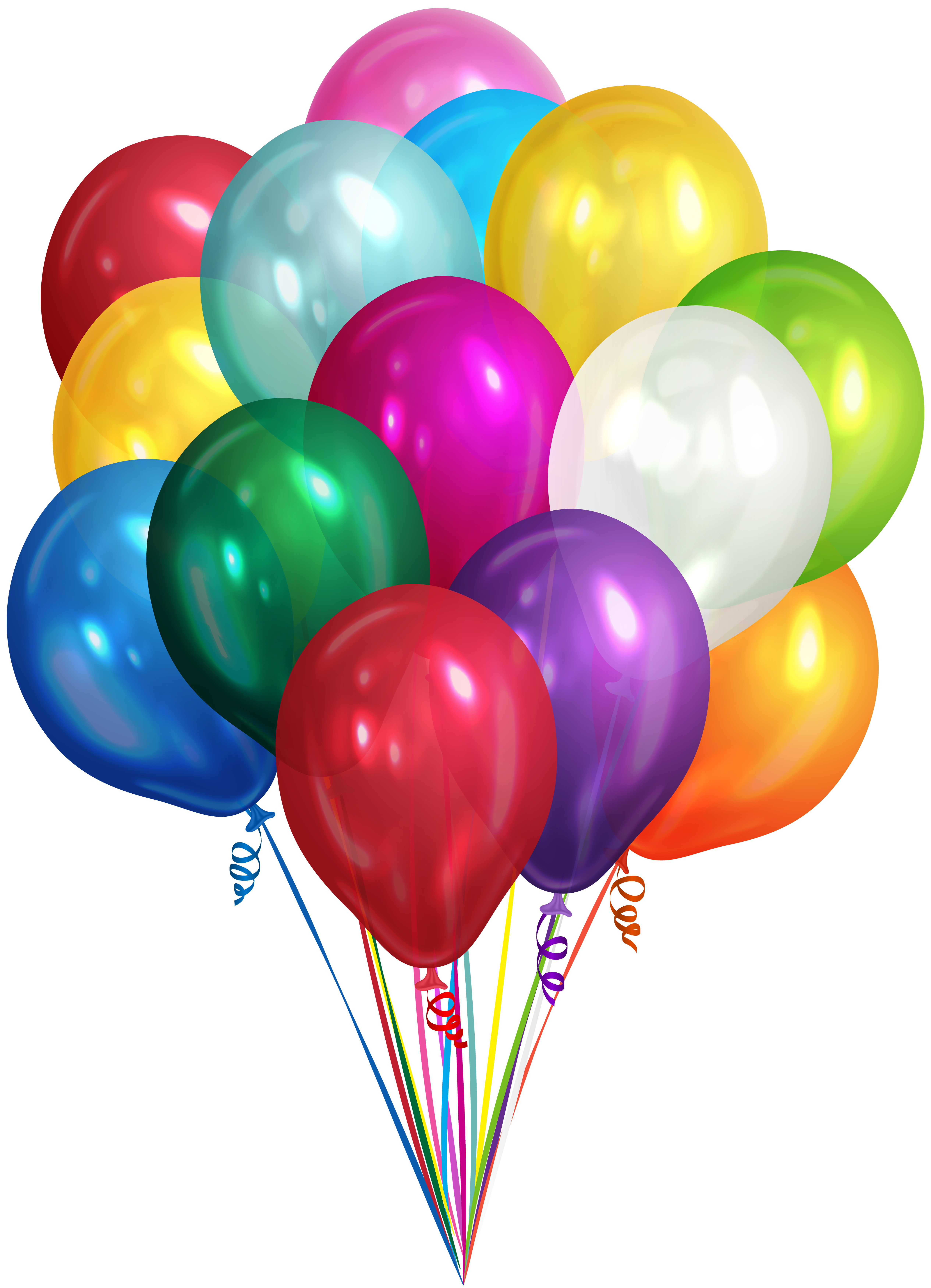 Clipart bunch of balloons clip art library stock Bunch of Balloons Transparent Clip Art PNG Image | Gallery ... clip art library stock