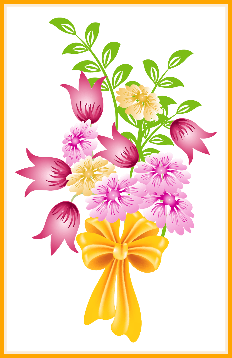 Clipart bunch of flowers jpg free stock Shocking Flower Bouquet Clip Art Of Png Pics For Clipart Popular And ... jpg free stock
