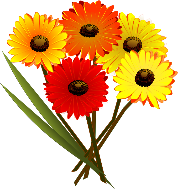 Medium image png . Clipart bunch of flowers