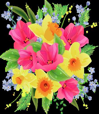Birthday flower bouquet clipartfest. Clipart bunch of flowers