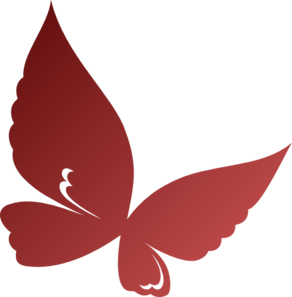 Clipart burgandy butterfly transparent