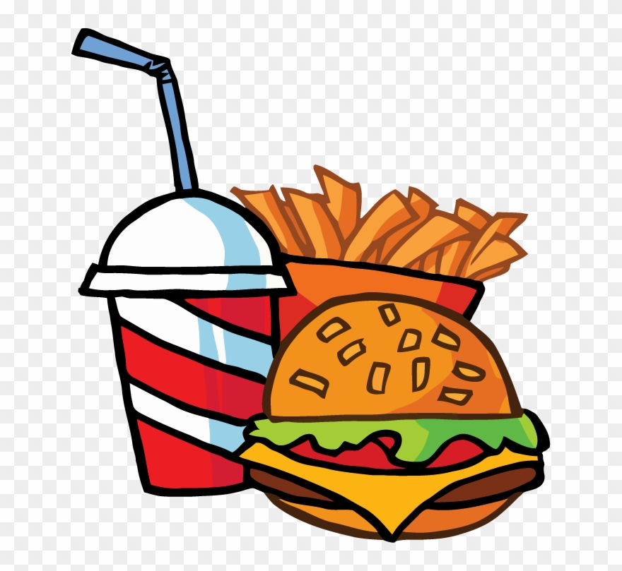 Clipart burger and fries svg library stock Fast Food Cheeseburger Drink With French Fries Tattoo - Burger And ... svg library stock