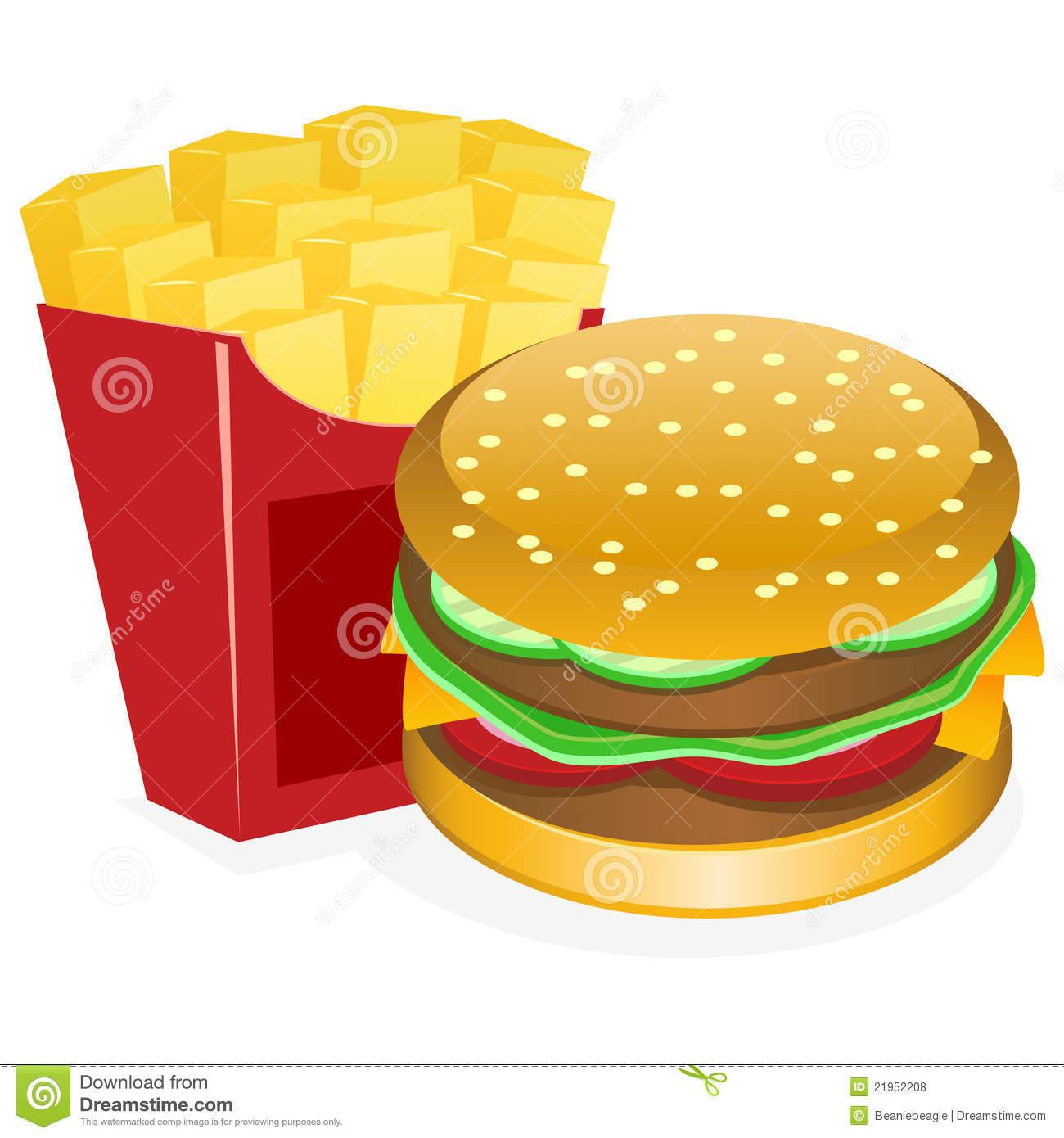 Hamburgers and fries clipart png Burger and fries clipart 6 » Clipart Station png