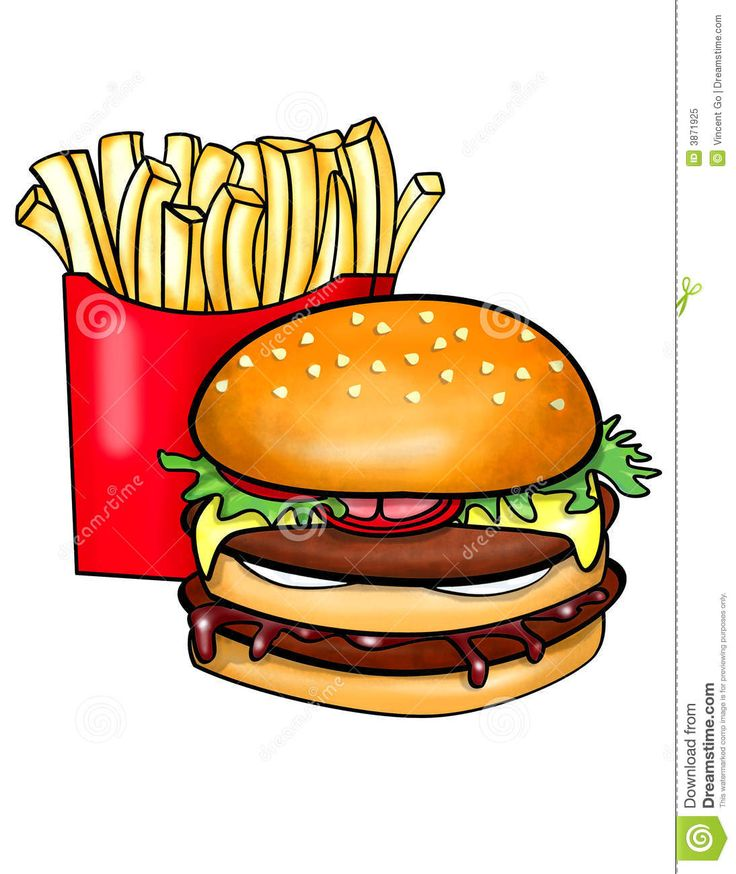 Hamburgers and fries clipart clipart black and white library Burger and fries clipart 8 » Clipart Station clipart black and white library