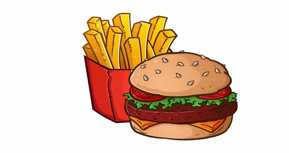 Clipart burger and fries clip art transparent Graphic Download Hamburger French Cheeseburger Royalty ... clip art transparent