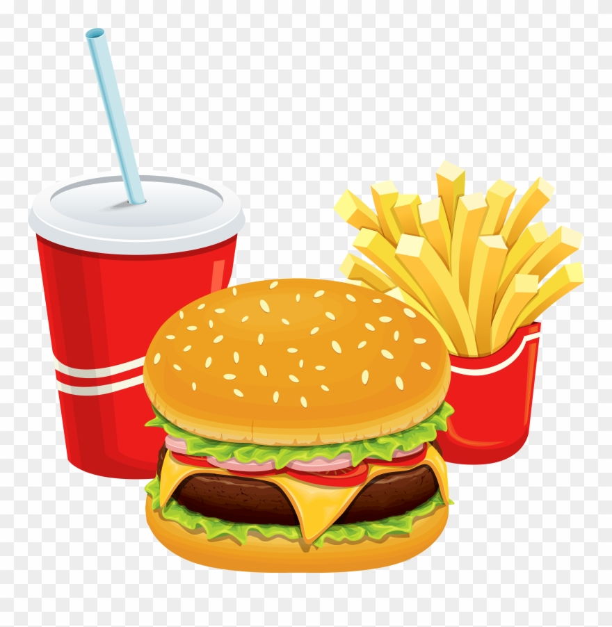 Hamburgers and fries clipart clip art freeuse library Man Cliparthot Of Restaurant - Burger And Fries Transparent - Png ... clip art freeuse library