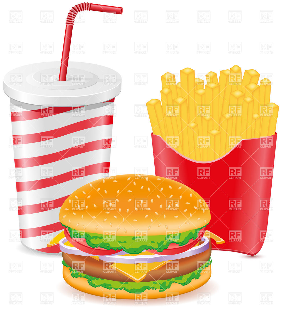Clipart burger and fries vector freeuse Free clipart with burgers and fries clipart collection jpg - Clipartix vector freeuse