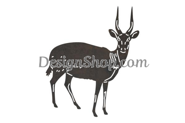 Clipart bushbuck vector transparent Bushbuck Antelope DXF File for CNC vector transparent