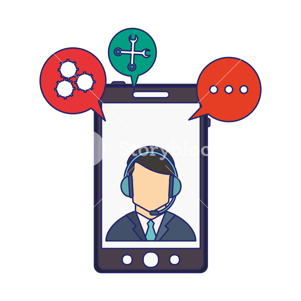 Clipart business man tools graphic technical support from smartphone businessman with tools symbols ... graphic