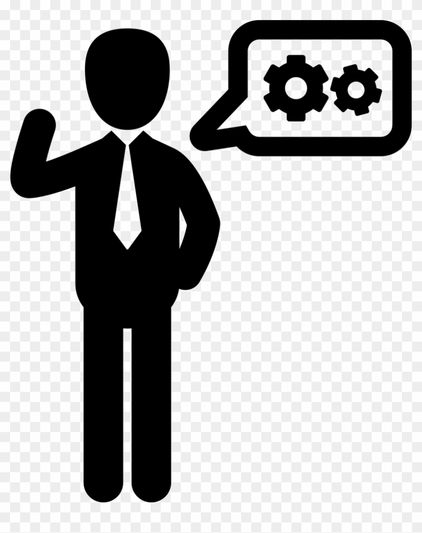 Clipart business man tools svg library library Businessman With A Speech Bubble Comments - People Tools Icon, HD ... svg library library