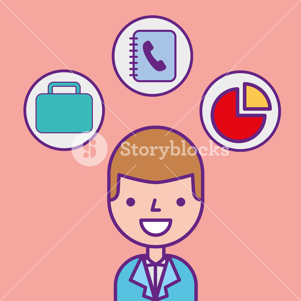 Clipart business man tools jpg freeuse download businessman character professional portrait tools vector ... jpg freeuse download