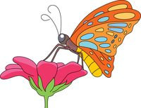 Clipart butterflies and flowers banner transparent stock Free Butterfly Clipart - Clip Art Pictures - Graphics - Illustrations banner transparent stock