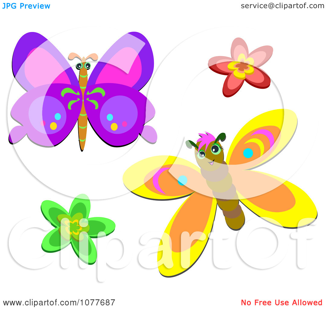 Clipart butterflies and flowers clip royalty free download Free clip art butterflies and flowers - ClipartFest clip royalty free download