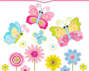 Clipart butterflies and flowers clip freeuse stock Butterfly flower clip art - ClipartFest clip freeuse stock