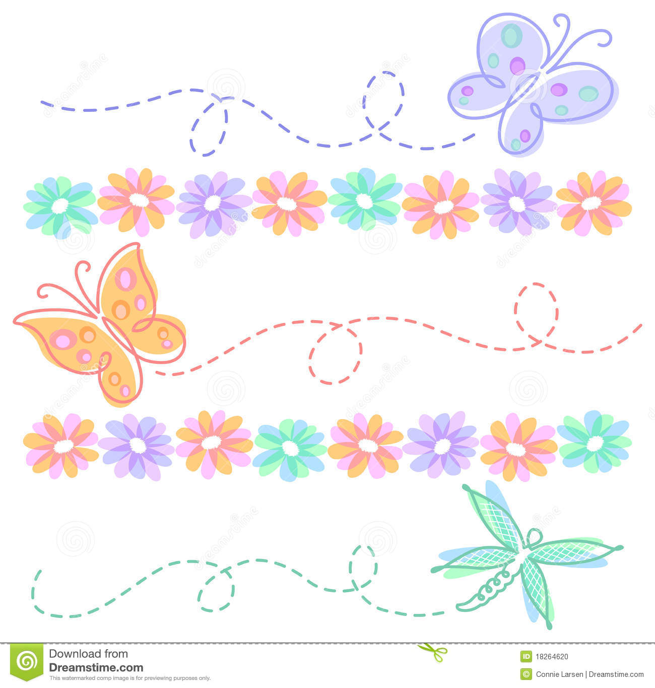 Clipart butterflies and flowers png freeuse Clipart Flowers And Butterflies Border | Clipart Panda - Free ... png freeuse