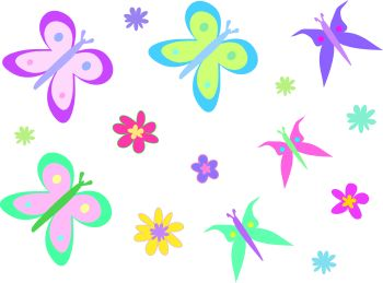 Clipart butterflies and flowers banner library Clipart of flowers and butterflies - ClipartFest banner library