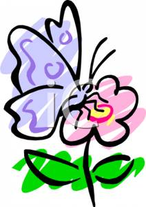 Clipart butterflies and flowers clip library Butterfly And Flower Clipart | Clipart Panda - Free Clipart Images clip library