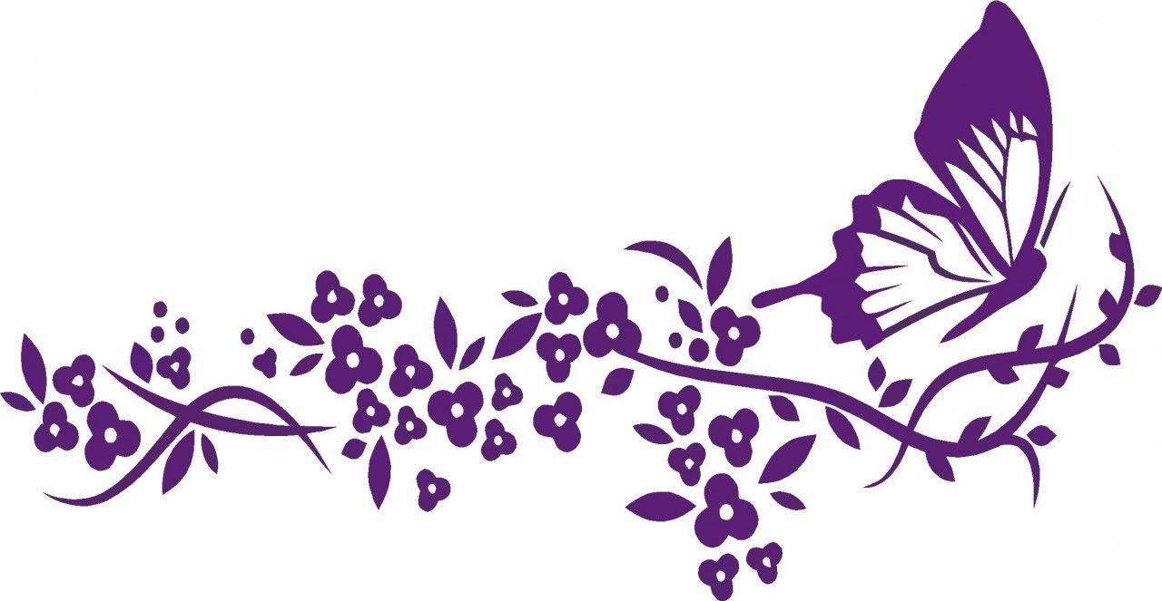 Clipart butterfly border purple