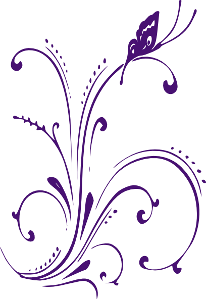 Clipart butterfly border purple image freeuse stock Butterfly Border Clip Art | new purple butterfly scroll clip art ... image freeuse stock