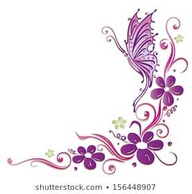 Clipart butterfly border purple jpg download Purple butterfly border clipart 3 » Clipart Portal jpg download