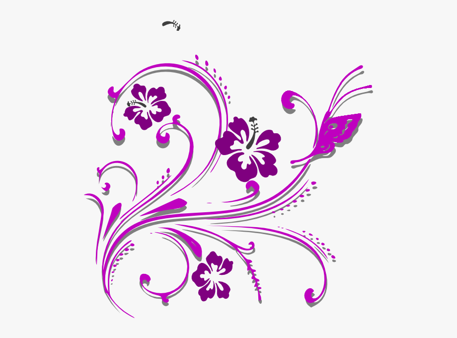 Clipart butterfly border purple graphic library Butterfly Scroll Clip Art - Butterfly Page Border Design #2553099 ... graphic library
