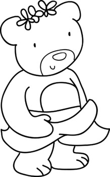 Clipart bw png library stock FAMILY BEAR CLIPART-4 CLIPART BW/COLOUR-FREE png library stock