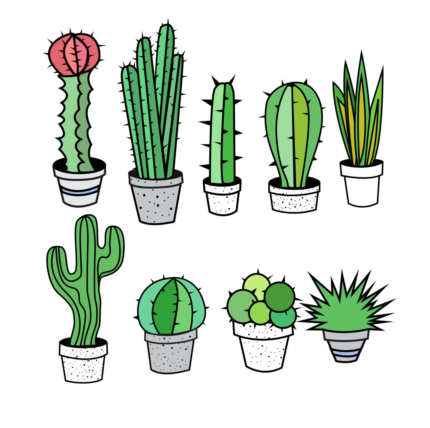 Clipart cactu svg royalty free library Cactus Clipart, Cactus Clip Art, Tribal Clipart, Tribal Clip Art ... svg royalty free library