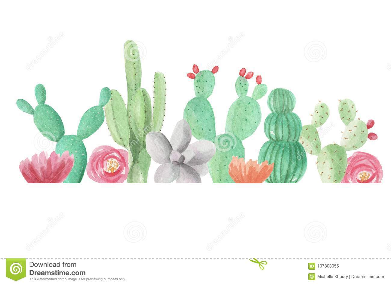 Clipart cactus free clipart stock Free watercolor cactus clipart 3 » Clipart Station clipart stock