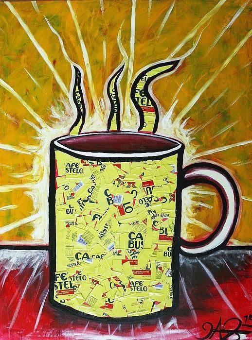 Clipart cafe con leche image royalty free library Cafe Con Leche Mixed Media | Art by J.A. Gonzalez in 2019 | Art ... image royalty free library