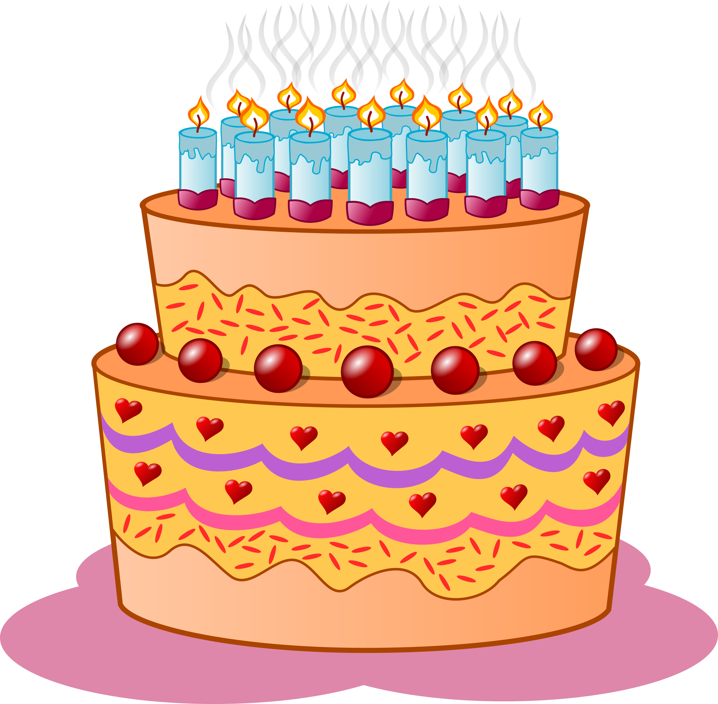 Clipart cake birthday jpg transparent Clipart - Birthday cake jpg transparent
