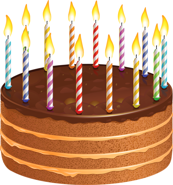Clipart cake birthday jpg library download Chocolate Cake with Candles PNG Picture | заставки для презентацій ... jpg library download