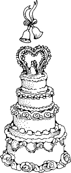 Clipart cake design wedding cake clipart freeuse stock Wedding Cake clip art Free vector in Open office drawing svg ( .svg ... clipart freeuse stock