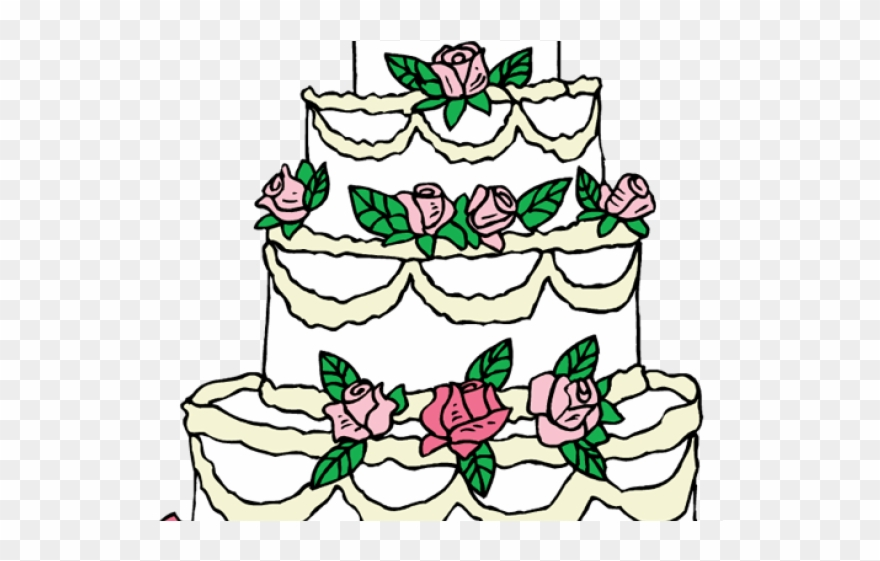 Clipart cake design wedding cake banner black and white download Wedding Cake Clipart Drawing - Wedding Cake Designs Clipart - Png ... banner black and white download