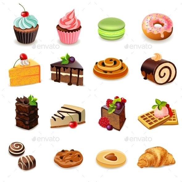 Clipart cakes and biscuits picture royalty free stock Cakes Icons Set | Food Vectors Art | Cupcake cookies, Cake icon ... picture royalty free stock
