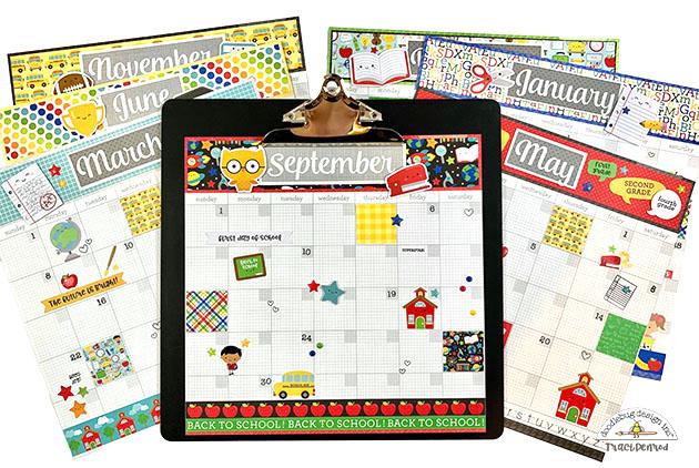 Clipart calendar 12th june graphic freeuse Doodlebug Design Inc Blog: SCHOOL DAYS - 12 MONTH DAILY DOODLES ... graphic freeuse