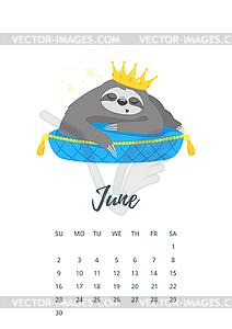 Clipart calendar 12th june png transparent download June 2019 year calendar page - vector clipart png transparent download