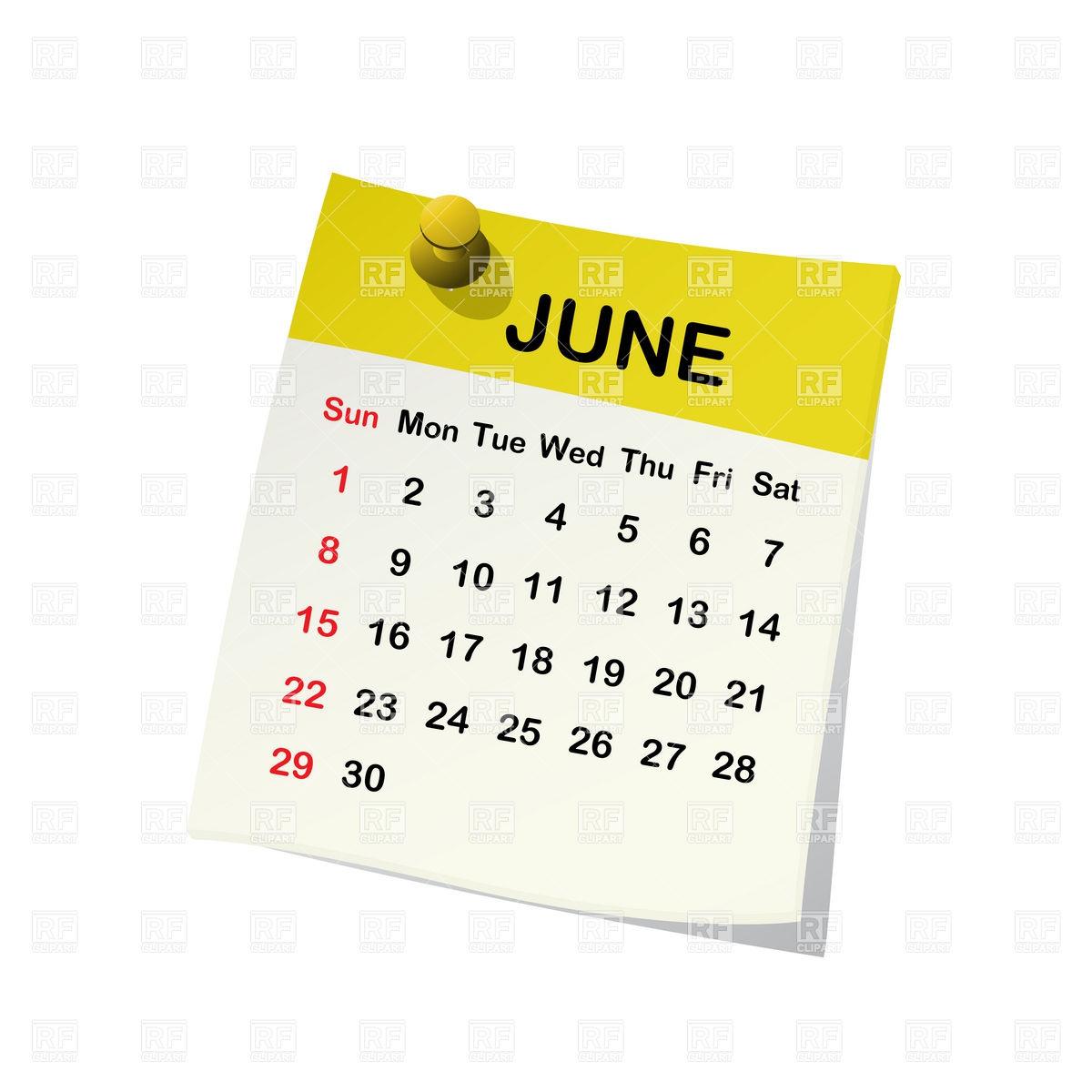 Clipart calendar 12th june vector black and white download June 6 calendar clipart clipground jpg - Clipartix vector black and white download