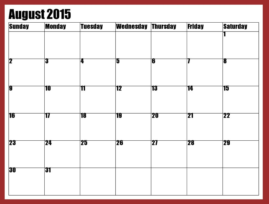 Clipart calendar august 2015 svg library stock Calendar Clipart (1449) Free Clipart Images — Clipartwork svg library stock