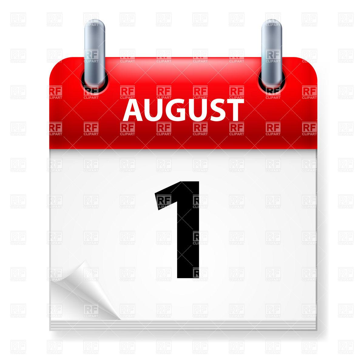 Clipart calendar august 2015 clip art freeuse Free clipart for august calendar - ClipartFest clip art freeuse
