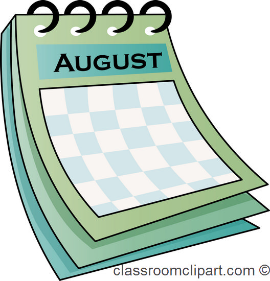 Clipart calendar august 2015 jpg royalty free download August clipart calendar - ClipartFox jpg royalty free download